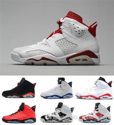 2018Free shipping 6 6s Mens Basketball shoes man unc Black Cat Infrared sports blue Maroon Olympic Alternate Hare Oreo Angry bull sneakers cheap exclusive B1ZHwTb7aW