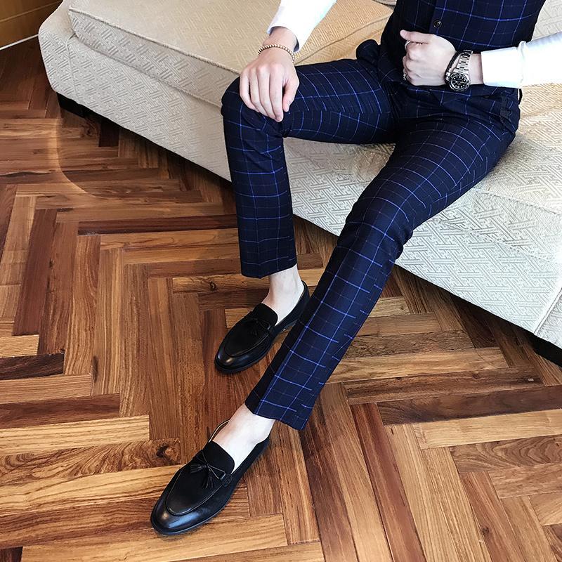 46fc71a280 2019 Classic Brand Men S Suit Pants High End Business Wedding Groom Dress  Suits Trousers Men Black Gray Navy Blue S M L XL 2XL 3XL From Hiem