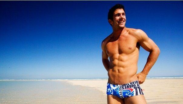Baskı Mayo Adam Marka 2018 Mayo Erkekler Eşcinsel Mayolar Yüzme Külot Sandıklar Erkek Swim Şort Plaj Kıyafeti Sunga
