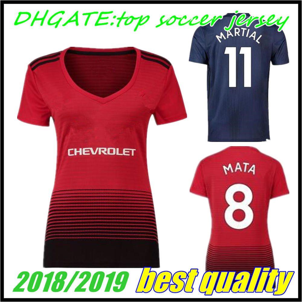 32c4b94ad Women Lexis 18 19 Pogba Soccer Jersey 2018 2019 Female Football Shirt  Lindelof Rashford United Mkhitaryan Lukaku Mata Martial Jersey From ...