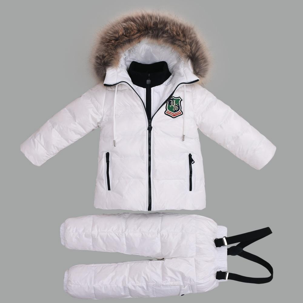 c83125b10677 30 Degree Winter Suits For Girls Boys Clothing Sets Children Snow ...
