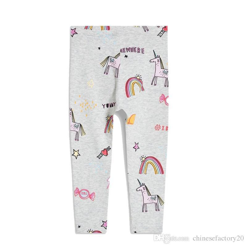 Kids Unicorn Skinny Leggings Cotton Flower Strawberry Printed Clothing for Girls Full Length Pants Slim Pencil Trousers Children