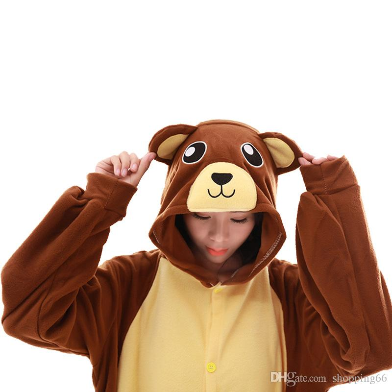 Купить Оптом Хэллоуин Карнавальные Костюмы Этап Производительности  Комбинезоны Новый Стиль Взрослых Пижамы Косплей Коричневый Медведь Животных  Мультфильм ... 27fa5b77ef765