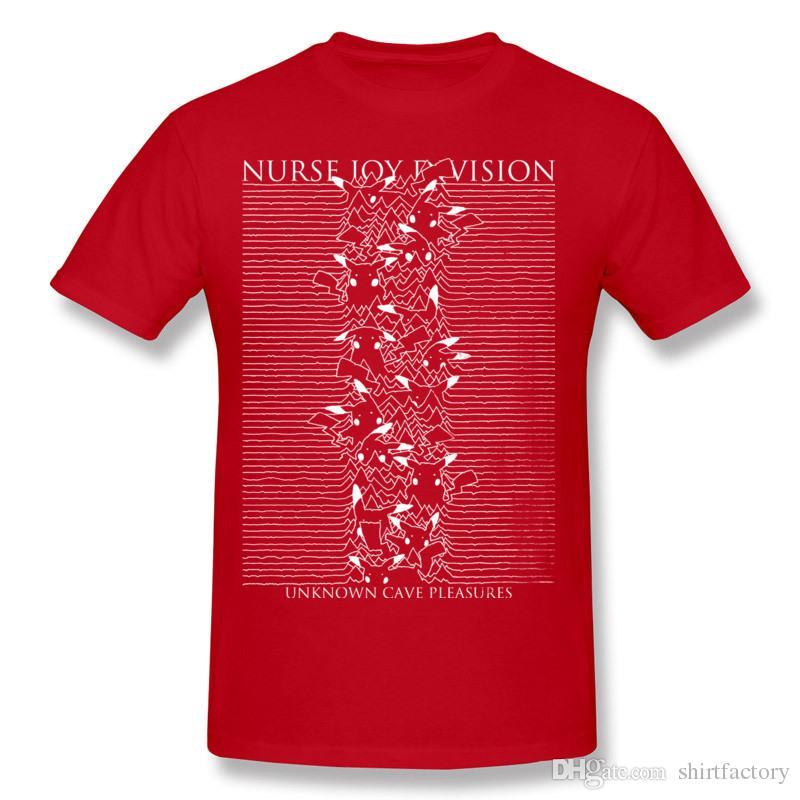 Último Hombre 100% algodón Enfermera Joy Division Camiseta Hombre Crewneck Beige Shorts camiseta para la venta más el tamaño impreso en la camiseta