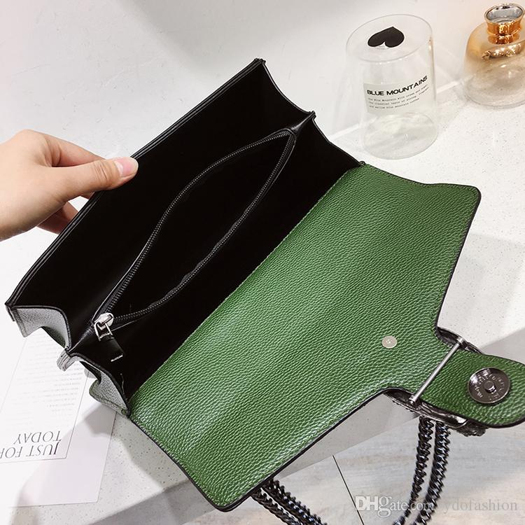 Women Crossbody Bag Fashion 2018 Versatile Zipper Hasp PU Leather Flap Pure Diamond Snake Head One Shoulder Bag For Female Lady Handbag