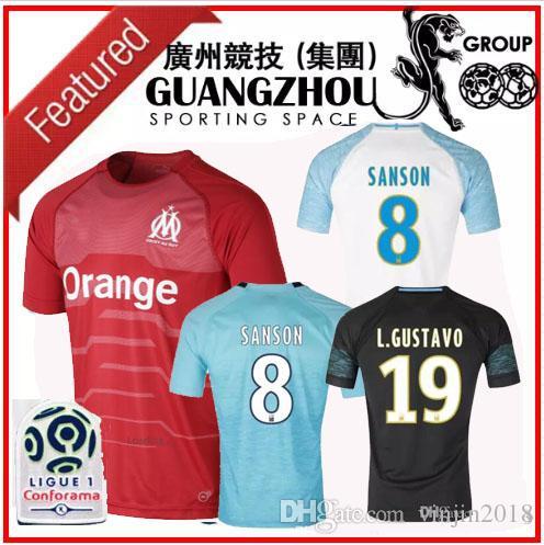 94f6aebc9 18 19 Marselle Goalkeeper Soccer Jerseys PELE L.GUSTAVO 19 PAYET 10 ...