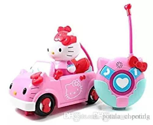 1PC Hellokitty Remote Control 4CH RC Car Electric Toys Cute Hello Kitty Funny kids Toys Party Radio Racing Controlled Cars KT Cat Vehicle