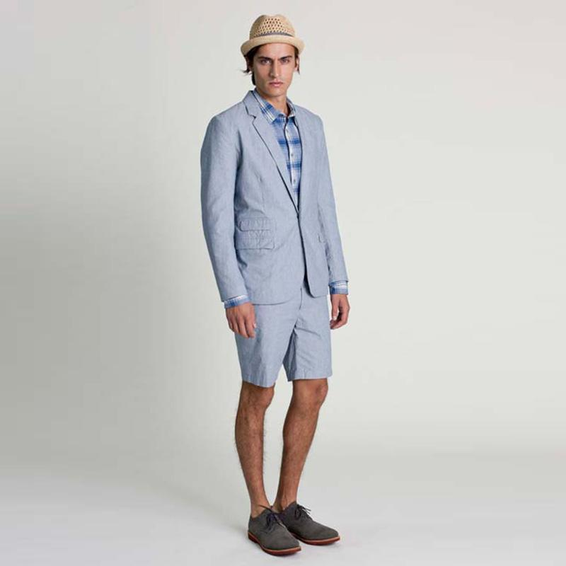 4ae8bf0473c Custom Made Beach Boyfriend Suit Light Blue Linen Men Suit With Short Pants  Wedding Prom Blazer Male Jacket Pants Canada 2019 From Bigseaa