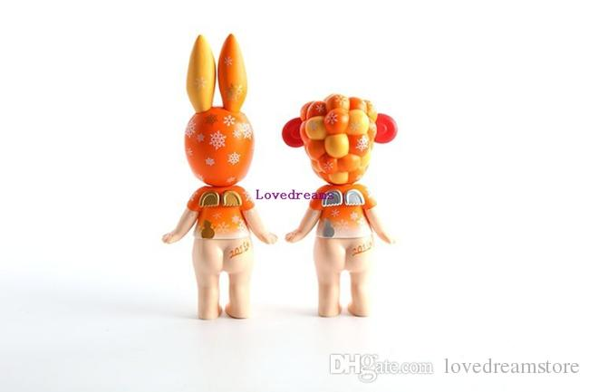 Sonny Angel Artist Collection Happiness Sonny Baby Orange Color PVC Action Figures For Kids Gifts Phone Accessories
