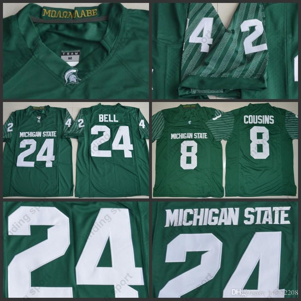 a9507a13c NCAA Michigan State Spartans 8 Kirk Cousins 24 LeVeon Bell Green ...