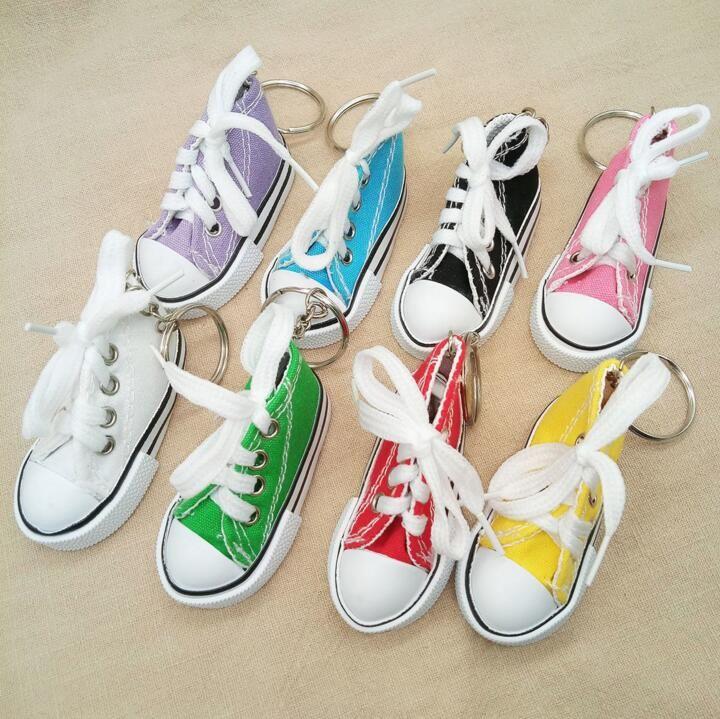 4d88997383 Compre DHL Mini Sapatilha 3D Chaveiro Sapatos De Lona Anel Chave ...