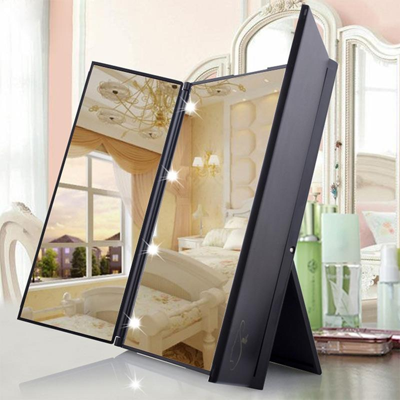Tri Fold Vanity Mirror With Lights Best Wholesale Tri Fold Makeup Mirror With Led Light Portable Travel