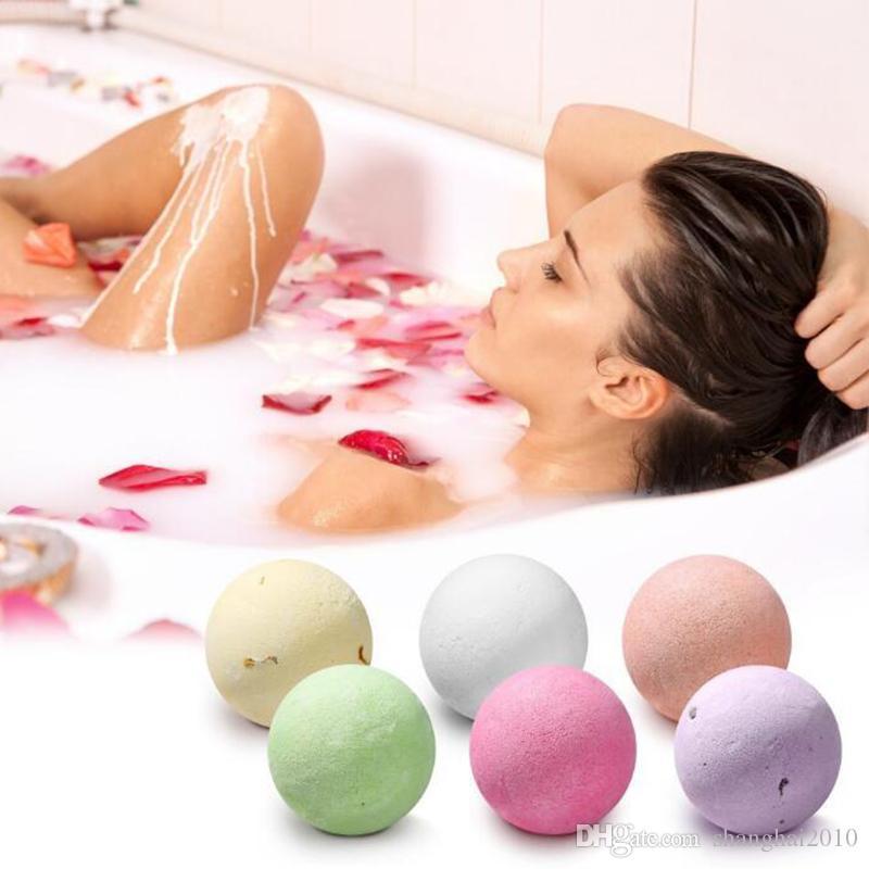 Bombas de baño de burbujas Juego de regalo Rosa Aciano Lavanda Oregón Exuberante exuberante Fizzies Perfumado Sales de mar Bolas Hechas a mano Regalo de SPA 60 g