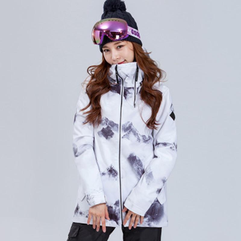 e83857ecbf Gsou Snow Women Ski Jacket Skiing Sport Wear Windproof Waterproof  Breathable Winter Clothing Super Warm Coat Female Outdoor Wear Skiing  Jackets Cheap Skiing ...