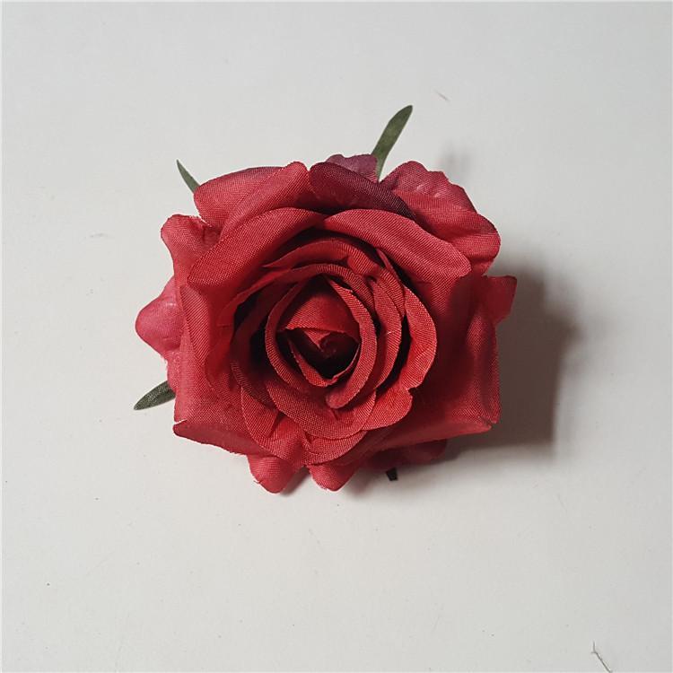 Осень Роза глава искусственные цветы Home Decor реалистичное моделирование шелковые цветы для свадьбы поставок Роза ажурные стены
