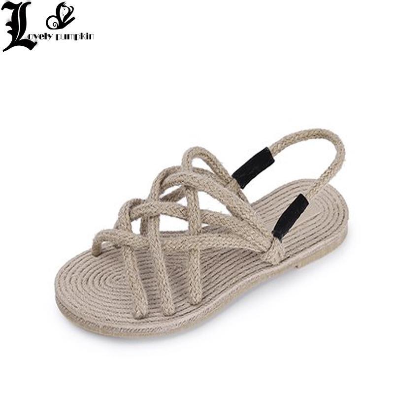 a864d3fcc2e9 Summer Retro Ladies Beach Sandals Roman Sandals Women Fashion Gladiator For Women  Shoes Female Flat LP077 Sandals For Women Knee High Gladiator Sandals From  ...