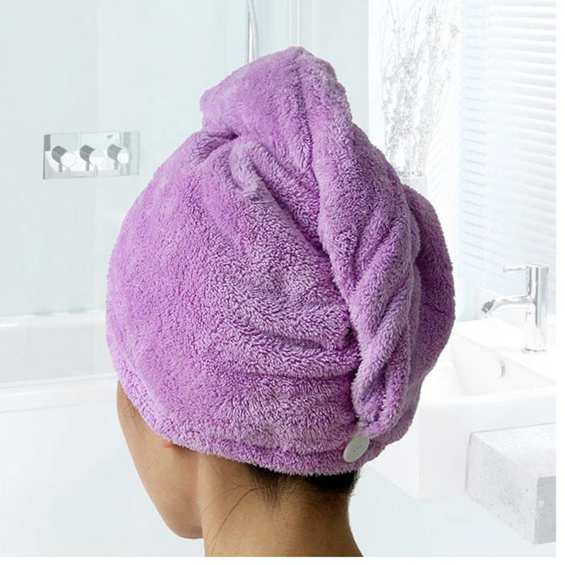 Bath Shower Sets Microfiber Hair Towel Ultra Absorbent Twist Hair Turban Drying For Spa cap