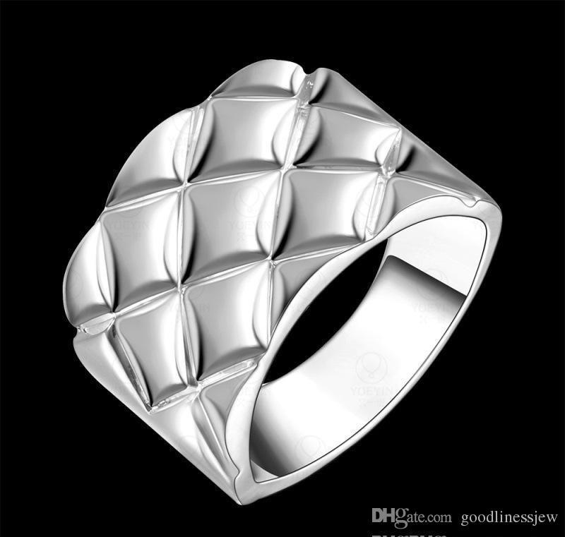 Hombres El mejor regalo para el Día de San Valentín Venta al por mayor de China Joyería de moda 925 Anillos de boda chapados en plata Anillos para hombres