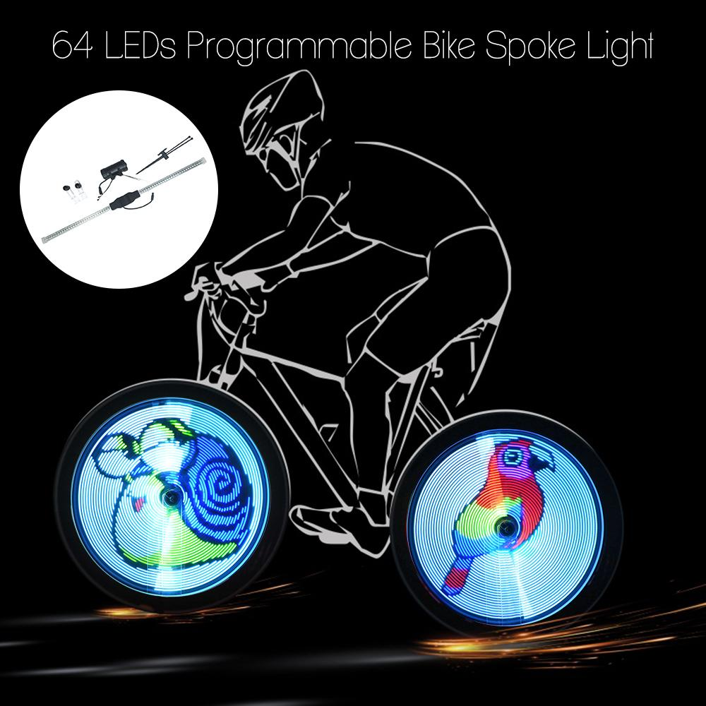 2019 64 Led Diy Bicycle Lights Wireless Programmable Bike Spokes Flashers Wheel Light Colorful Motor Cycle Lamp Luces Image For Night Cycling From Alexandr