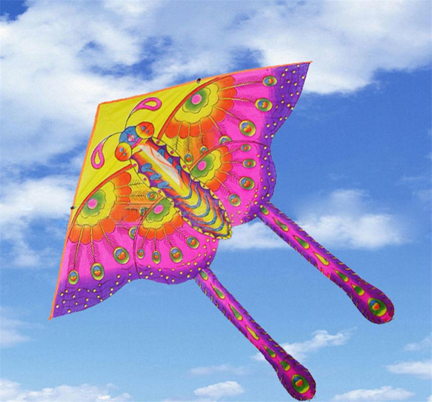 10 PCS 50 cm Color Butterfly Kite Hot Medium Traditional Color Butterfly Styles Foldable Kite Outdoor Recreation Products For Kids