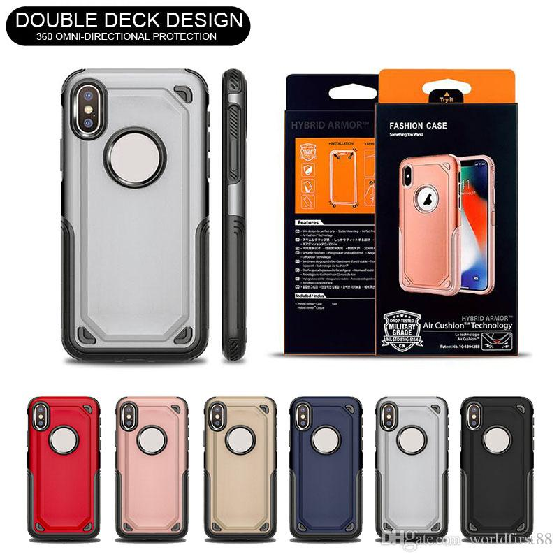 new concept 64c50 84de9 Hybrid Urban Armor Case Shockproof Protective Phone Cases For iPhone X 8 7  Plus Samsung Galaxy S8 S9 Plus Note9 S8 S7 Edge