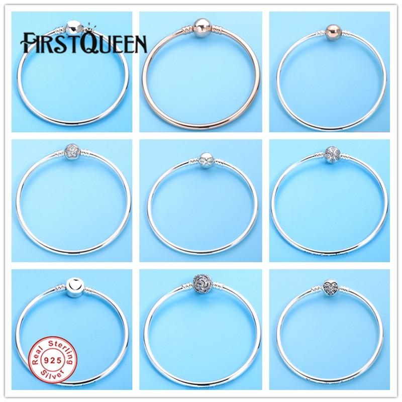 Firstqueen Silver 925 Jewelry Bracelets Bangles For Women Fit Silver ...
