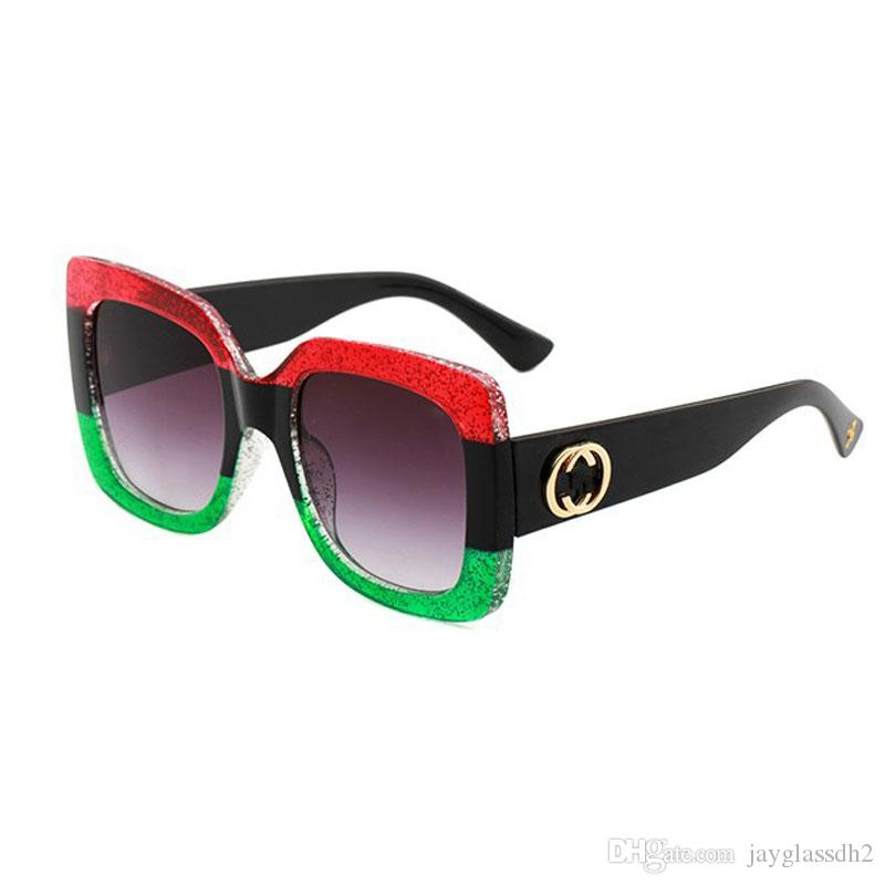 94a35d1653 2019 Brand Design Oversized Sunglasses Italy Luxury Women Mirror Green Red  Sun Glasses Vintage Green Red Sun Glasses Female Goggle Eyewear Sunglasses  Online ...