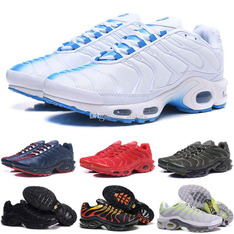 788bd90b3546 Wholesale High Quality Hot Sale TN Men S Running Sport Footwear Sneakers  Trainers Shoes Size 7 12 Stability Running Shoes Running Shoes For Flat  Feet From ...