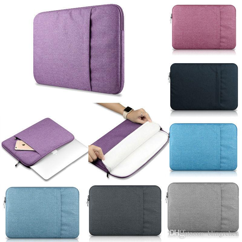 e6ce335d727d Laptop Sleeve 13 Inch 11.6 12 15.4-Inch for MacBook Air Pro Retina Display  12.9 iPad Soft Case Cover Bag for Apple Samsung Notebook Sleeve