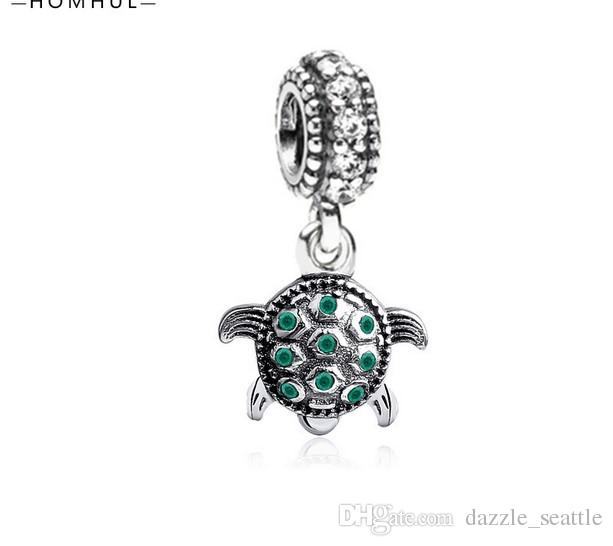 520786951 2019 Fits Pandora Bracelets Sea Turtle Silver Charm Bead With Cubic  Zirconia For Wholesale Diy European Sterling Necklace Women Jewelry From  Dazzle_seattle, ...