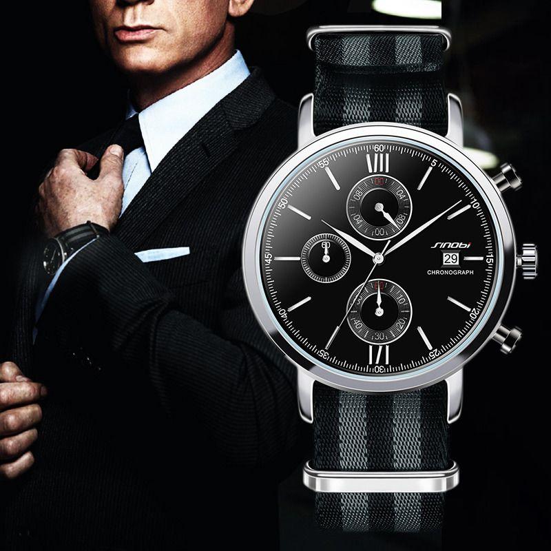 567399972ce Acquista SINOBI Orologi Da Uomo Cronografo Moda NATO Cinturino Cinturino In  Nylon Top Luxury Brand Orologio Al Quarzo Maschi James Bond 007 A  27.26  Dal ...