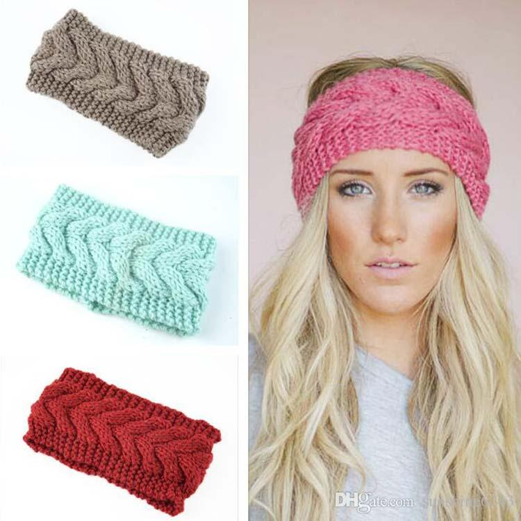 New Arrived Fashion Women Hair Accessories Soft Crochet Headband