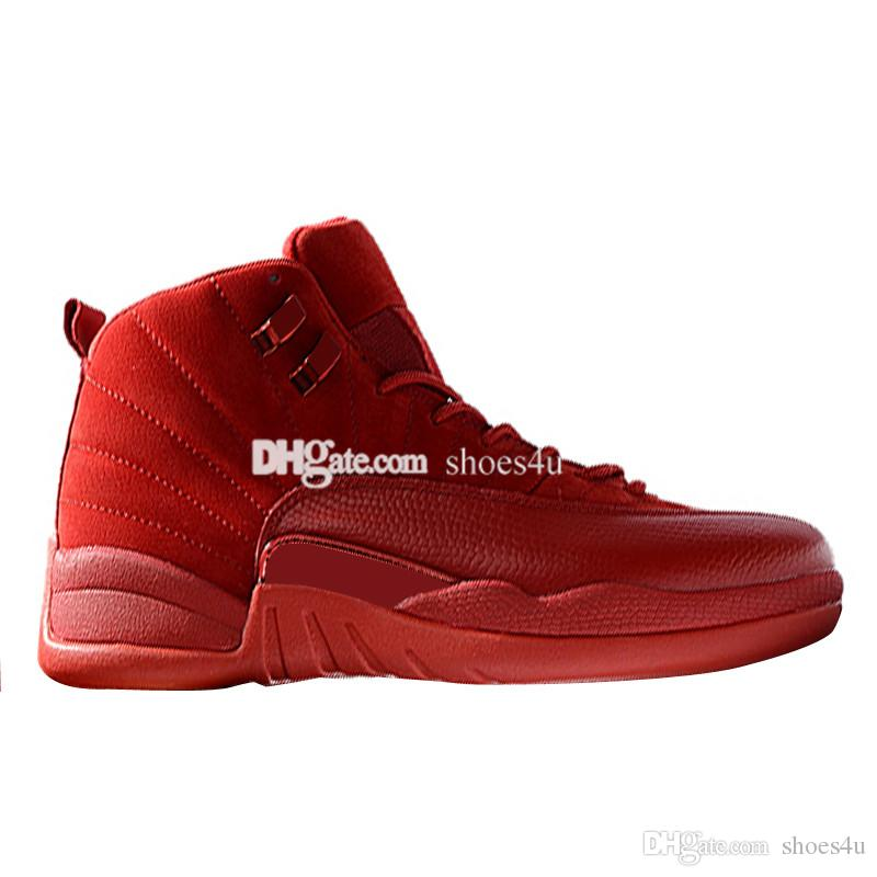 Hot 12 12s scarpe da basket da uomo Wheat Dark Grey Bordeaux Flu Game Il Master Taxi Playoff Sunrise Royal Blue Red Suede Wool Sneakers sportive