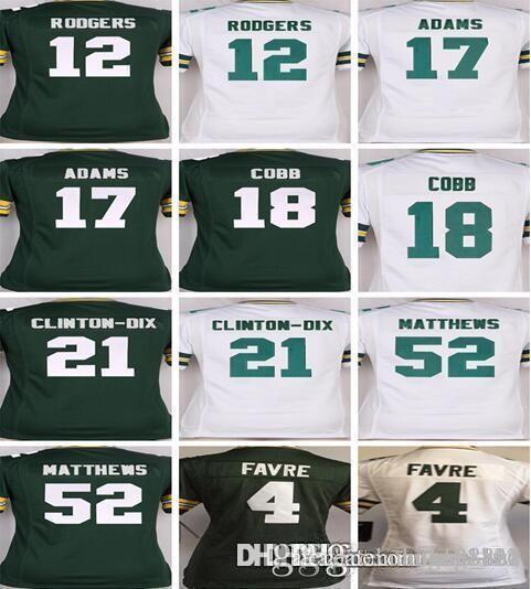 san francisco a45c9 d07e6 Women YOUTH KIDS Green Bays Packers Jersey 12 Aaron Rodgers 4 Brett Favre  17 Davante Adams 52 Clay Matthews COBB