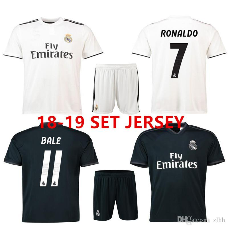 e4d99160227 3AAA+ Thai Quality 2018 2019 Real Madrid MEN SET Soccer Jersey ...