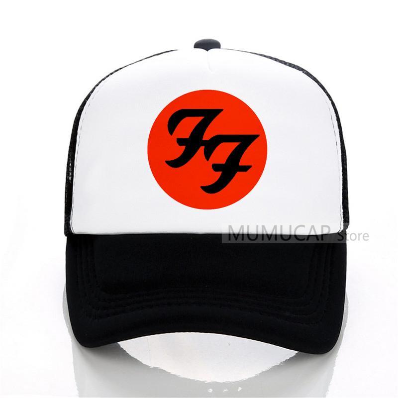 73e452b9eec Women Men Foo Fighter Rock Baseball Caps Rock Summer Cool Adjustable Mesh  Hat Summer Trucker Caps Army Hats Custom Caps From Qupeng9165