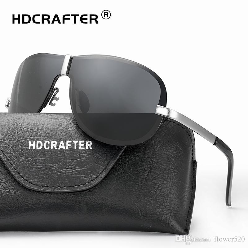 57183076c Compre Marca Óculos De Sol Dos Homens Polarizados Condução Óculos De Sol  UV400 Piloto Clássico Óculos De Sol Para Revestimento Masculino Espelho  Óculos De ...