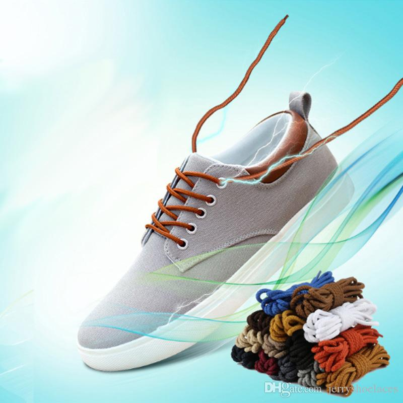 120cm/47inches Fashionable Round Shoes Laces Unisex Solid Color Shoestrings For Boots Casual Shoes High Quality