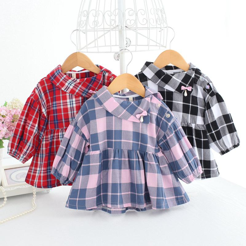046eafb283b8 2019 Baby Girl Dresses Buffalo Check Dress Long Sleeve Christmas Clothes  Newborn Baby Plaid Frocks Checked Outfits A014 Vestidos Robe From  Windowplant, ...