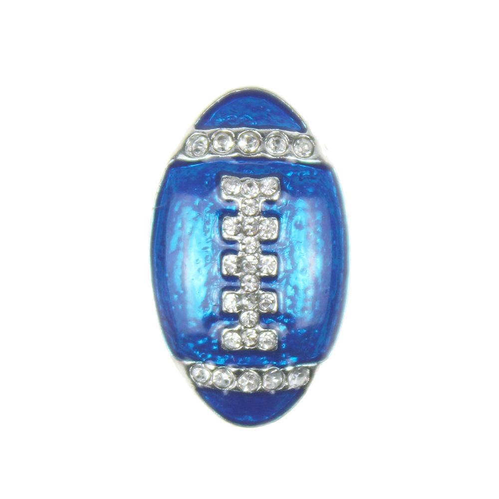 / Snap Bijoux Cristal De Football En Métal 18MM Snap Boutons Fit BRICOLAGE OEM Snap Bracelets Bracelets Pour Femmes
