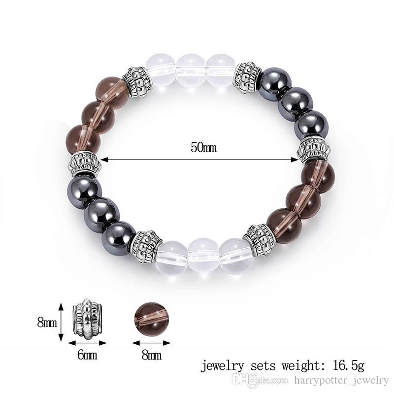 Lava Rock Bracelet Chinese New Year Jewelry Lucky Protection Tibetan Silver Bead