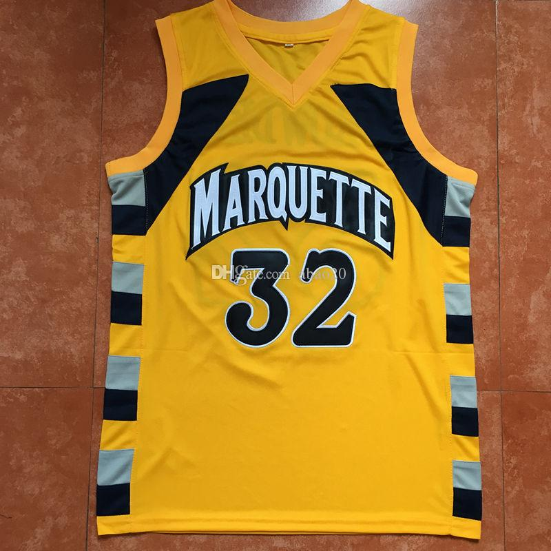 huge discount 0af93 7ae11 Jae Crowder #32 Trrowback College Marquette Golden Eagles Basketball Jersey  Embroidery Stitched Customize any number and name Jerseys