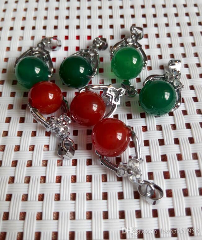 Tibet Gümüş yeşil kırmızı Yeşim Malay yeşim kolye Kolye Kız Erkek Kolye Gümüş kolye Gelin Takı için gelinlik C1