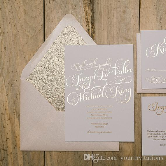 Rose Gold Foil And Glitter Wedding Invitation Blush And Rose Gold