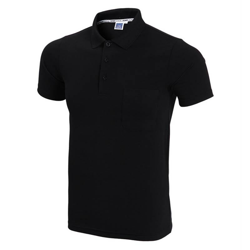 9faaa9bf8e5d8 2017 Brand Polo Shirt Men Fashion Short Sleeve Solid Color Pocket Polo  Homme Casual Slim Fit Mens Polos White Black Xxxl