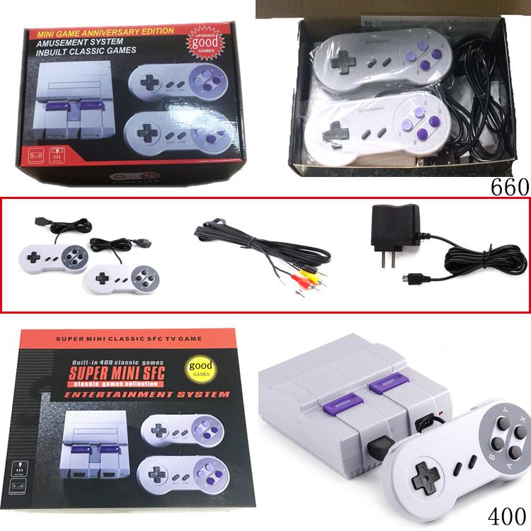 2018 new Video game machine Mini Game Console Video Handheld for SNES games  consoles with retail box free shipping Model FOR NES 400 660