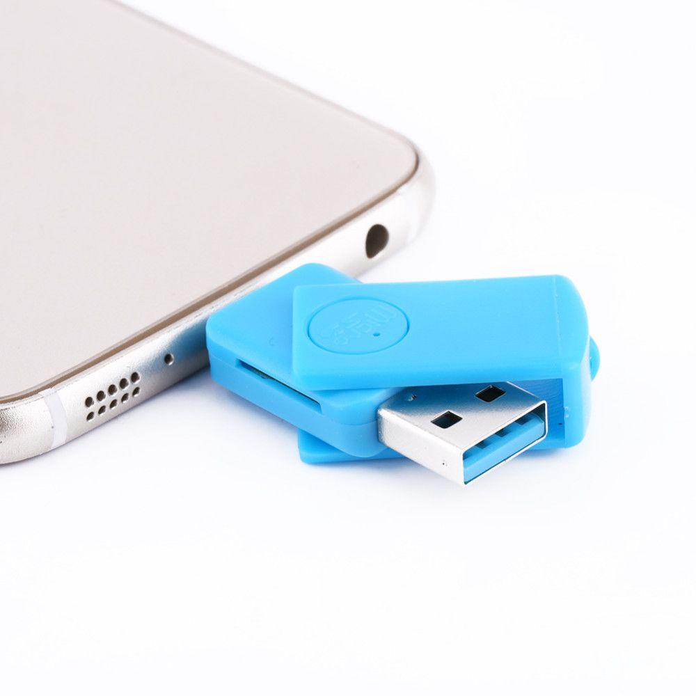 Lector de tarjetas multi 2 in1 Micro USB 2.0 SD Adaptador OTG Micro SD TF Lector de tarjetas para PC, teléfono con Android, negro / blanco / azul / rojo opcional