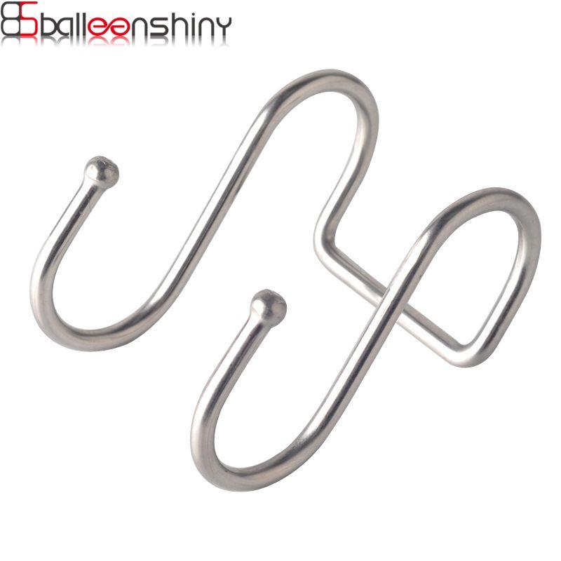 Großhandel Balleenshiny Edelstahl Doppel S Form Lagerung Haken Für
