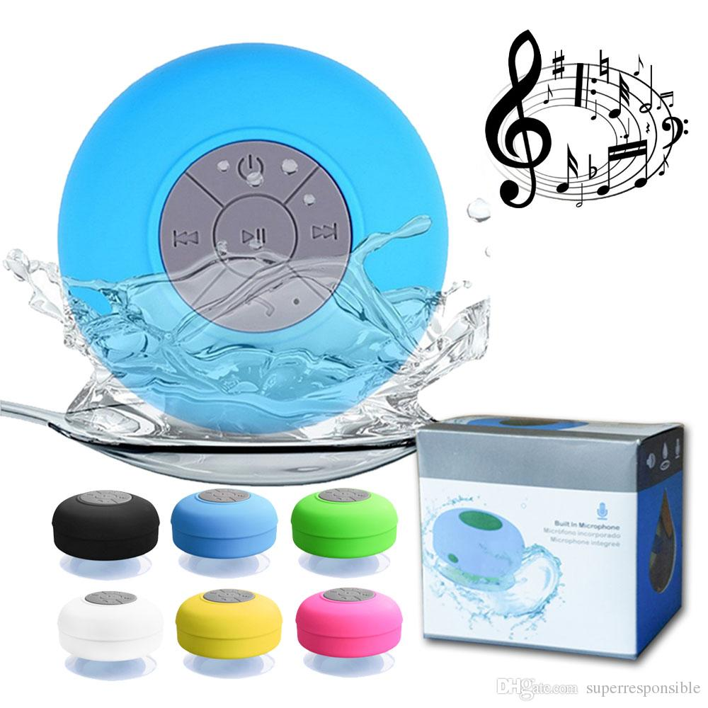 Waterproof Wireless Bluetooth Speaker Mini Subwoofer Shower speakers Car Handsfree Receive Call Music Suction Mic For smartphones