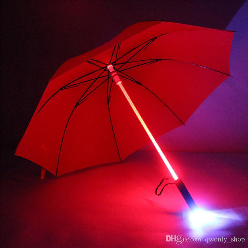 Cool Blade Runner Light Saber LED Flash Light Umbrella Rose umbrella bottle umbrella Flashlight Night Walkers